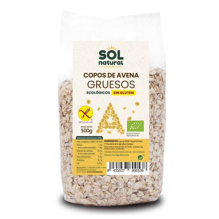 Copos de Avena Integral Sin Gluten Gruesos Bio 500g