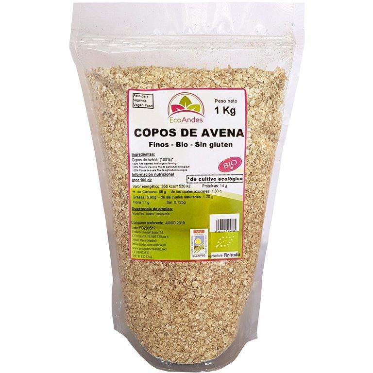 Copos de Avena Sin Gluten Bio 10kg, 1 ud