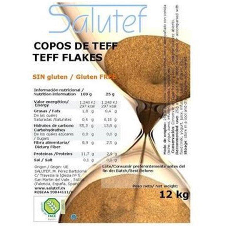 Copos de Teff 12kg, 1 ud