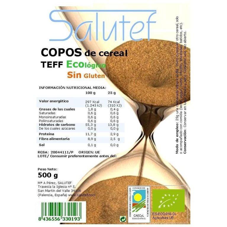 Copos de Teff Bio 500g, 1 ud