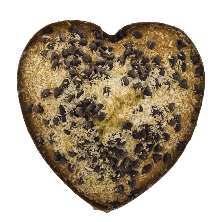 Corazón de Coco con Chocolate Ecológico 250g, 1 ud