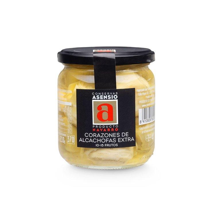 Corazones de Alcachofa 10-15 ud. Extra Frasco 345 g