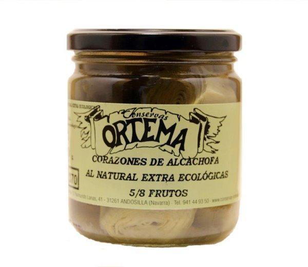 Corazones de Alcachofa al Natural Extra Ecológicas 5-8 Frutos