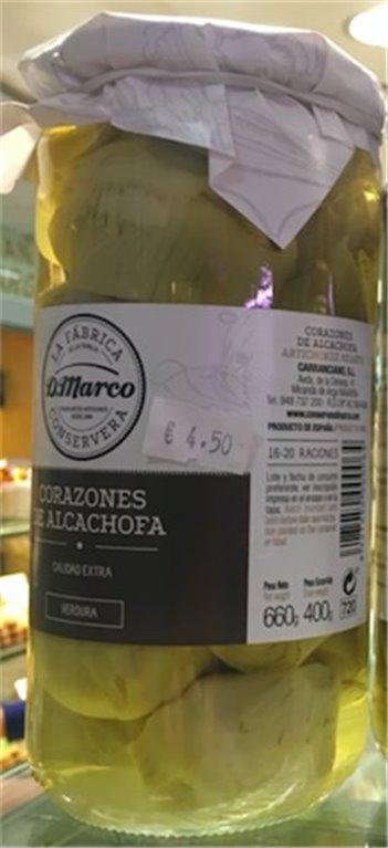 Corazones de alcachofa marca D. Marco, 1 ud