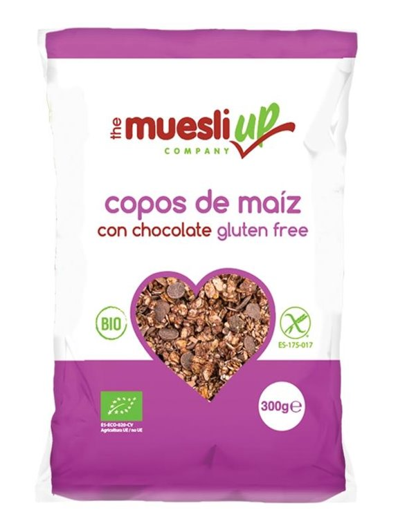 Corn Flakes con Chocolate Sin Gluten Bio 300g, 1 ud