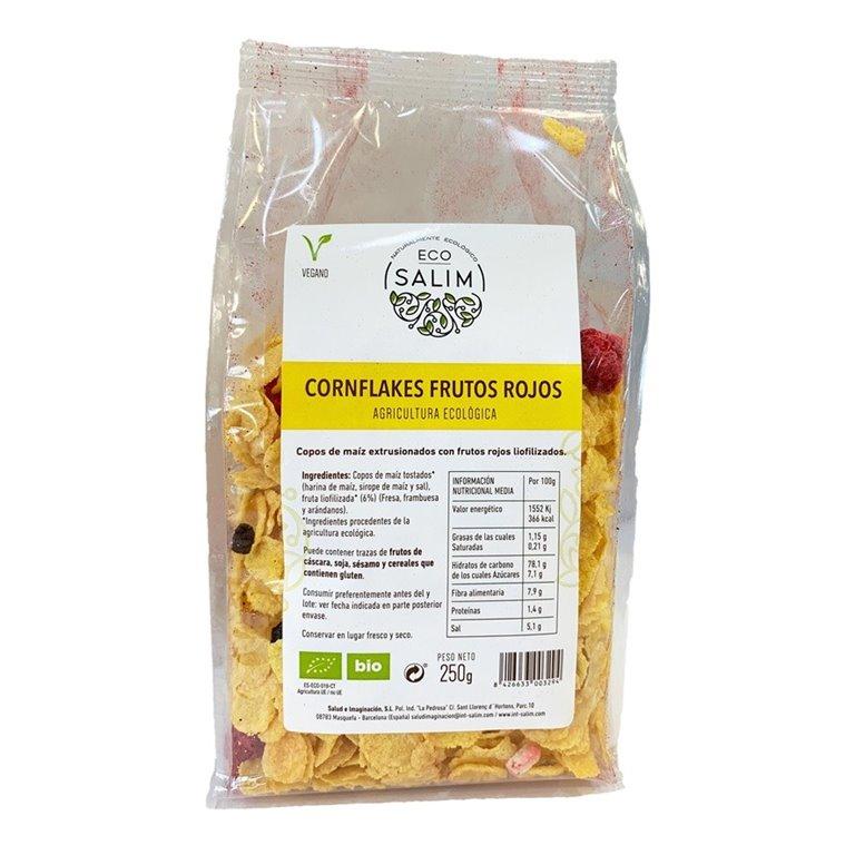 Corn Flakes con Frutos Rojos Bio 250g