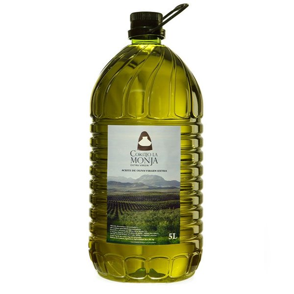 Cortijo la Monja. Aceite de oliva virgen extra. Caja de 3 x 5 litros.