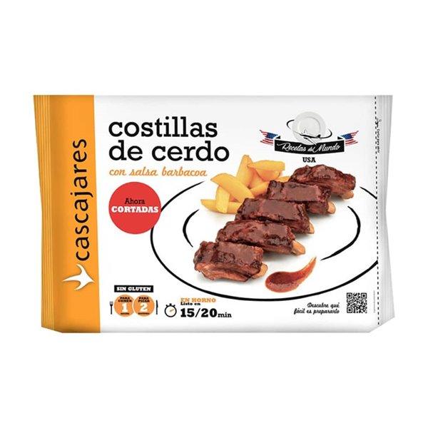 Costillas de cerdo con salsa BBQ al estilo Americano 550g Cascajares