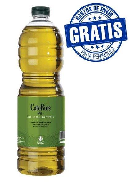 Coto Rios. Aceite de oliva virgen Picual. 15 botellas de 1 Litro