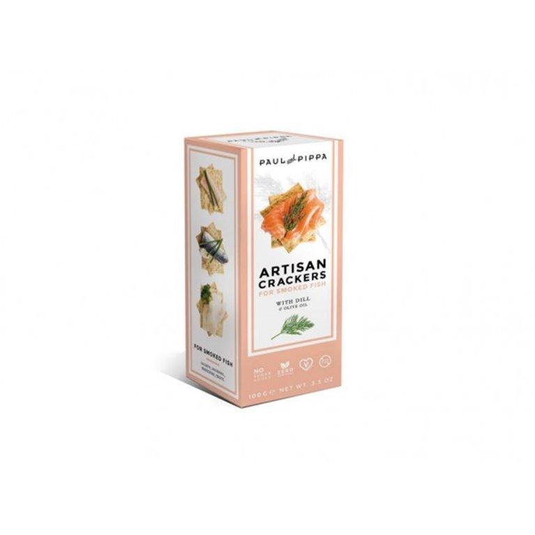 Crackers Artesanos de Eneldo Paul and Pippa 100 gr., 1 ud