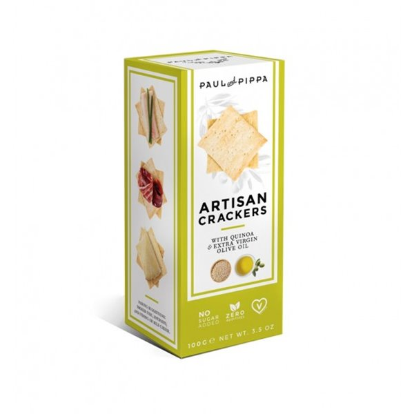 Crackers Artesanos de Quinoa Paul and Pippa 100 gr.