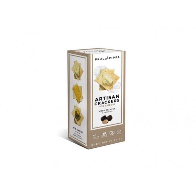 Crackers Artesanos de Trufa Negra Paul and Pippa 100 gr., 1 ud