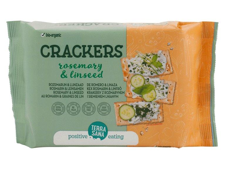 Crackers con romero y semillas, 160 gr