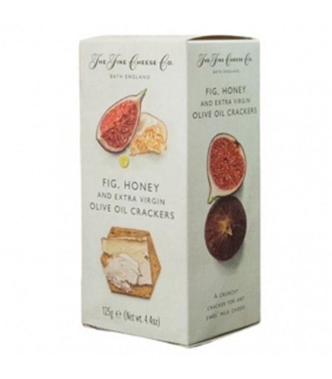 Crackers of EVOO, Figs and Honey 125gr. The Fine Cheese Co. 6un.
