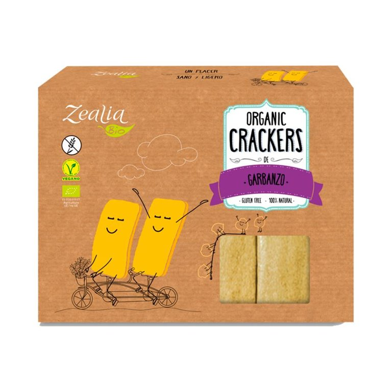 Crackers de Garbanzo Sin Gluten Bio 120g