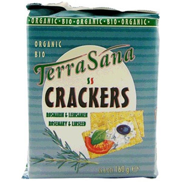 Crackers de Romero y Linaza Bio 160g
