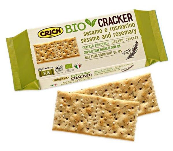 Crackers de Sésamo y Romero Bio 250g
