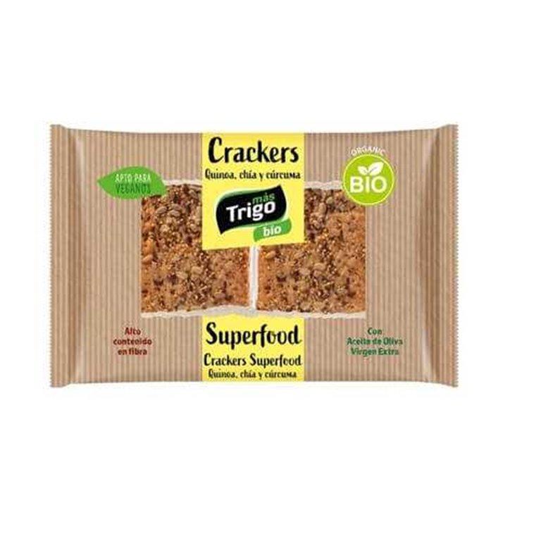 Crackers quinoa, chia y cúrcuma BIO - MásTrigo
