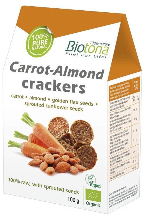 Crackers raw de almendras y zanahorias, 1 ud