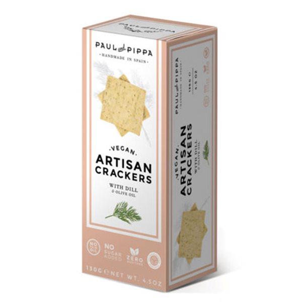 Crackers veganas de eneldo Paul and Pippa