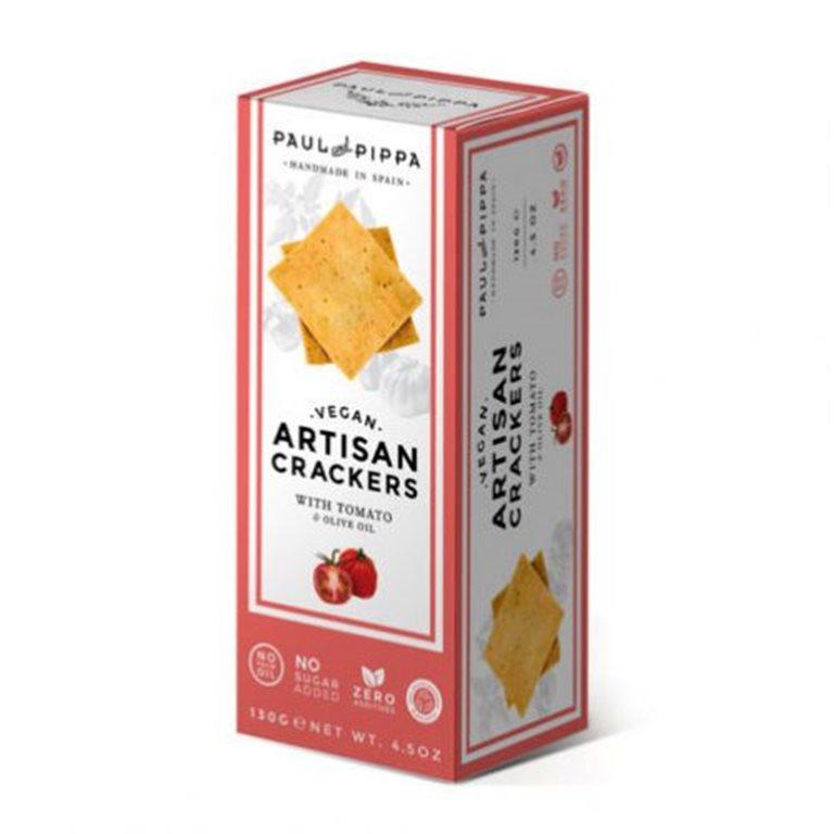 Crackers Veganas de Tomate Single Edition.