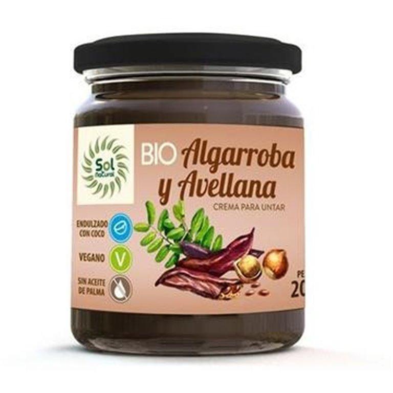 Crema de Algarroba y Avellana Bio 200g