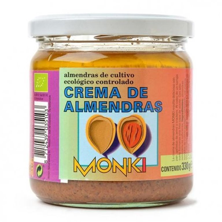 Crema de almendras Monki 330g