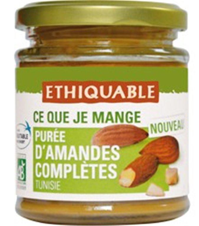 100% Pure Organic Whole Almond Cream Fairtrade 175g