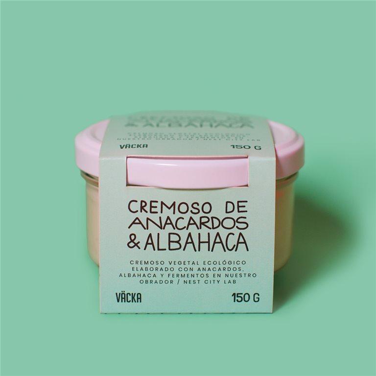 Crema de anacardos & Albahaca