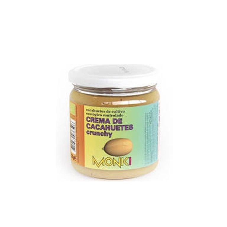 Crema de cacahuete crujiente bio 330g Monki