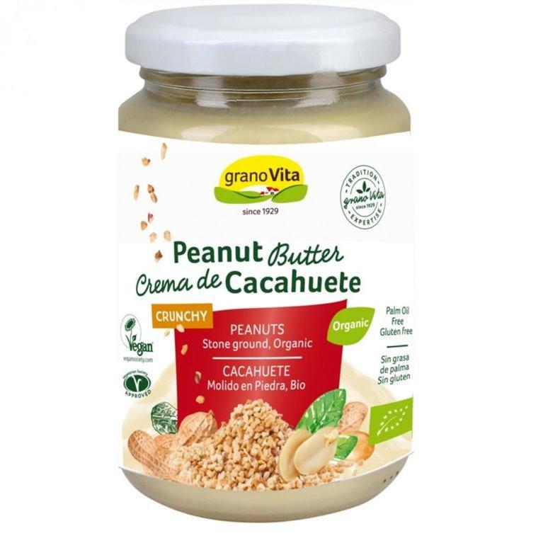 Crema de Cacahuete Crunchy 100% Pura Bio 350g