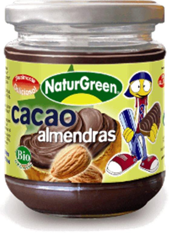 Crema de cacao con almendras, 200 gr