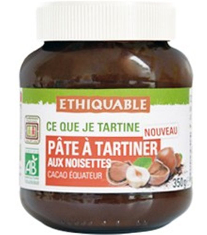 Crema de Cacao y Avellanas Bio Fairtrade 350g
