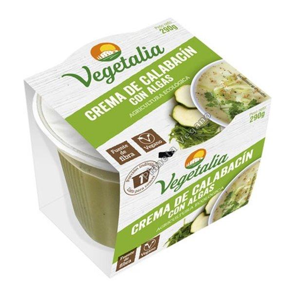 Crema de calabacín con algas eco