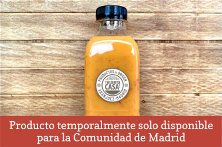 Homemade pumpkin cream with Iberian ham delahuertacasa