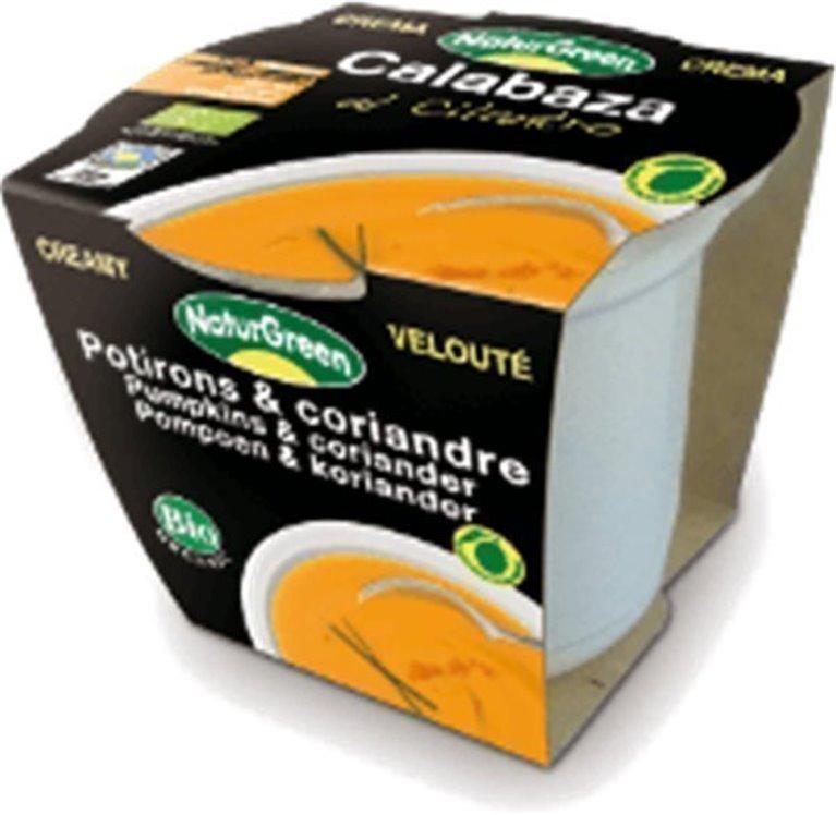 Crema de calabaza con cilantro, 310 gr
