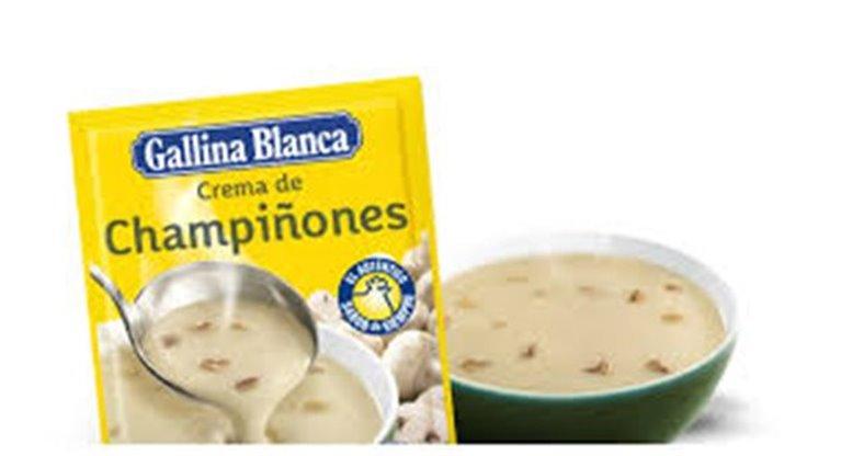 Crema de champiñones Gallina Blanca