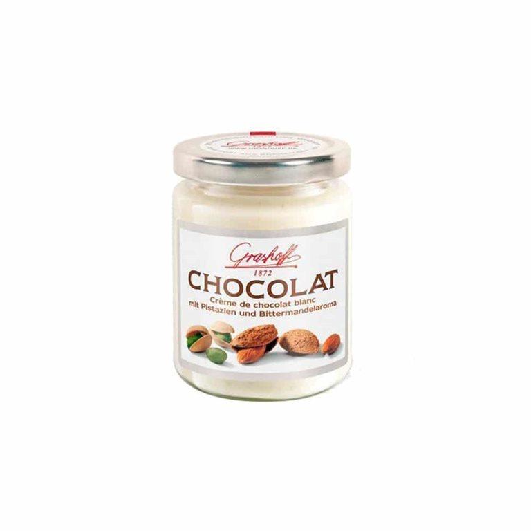 Crema de Chocolate Blanco con Pistacho y Almendra 235g Grashoff 1872