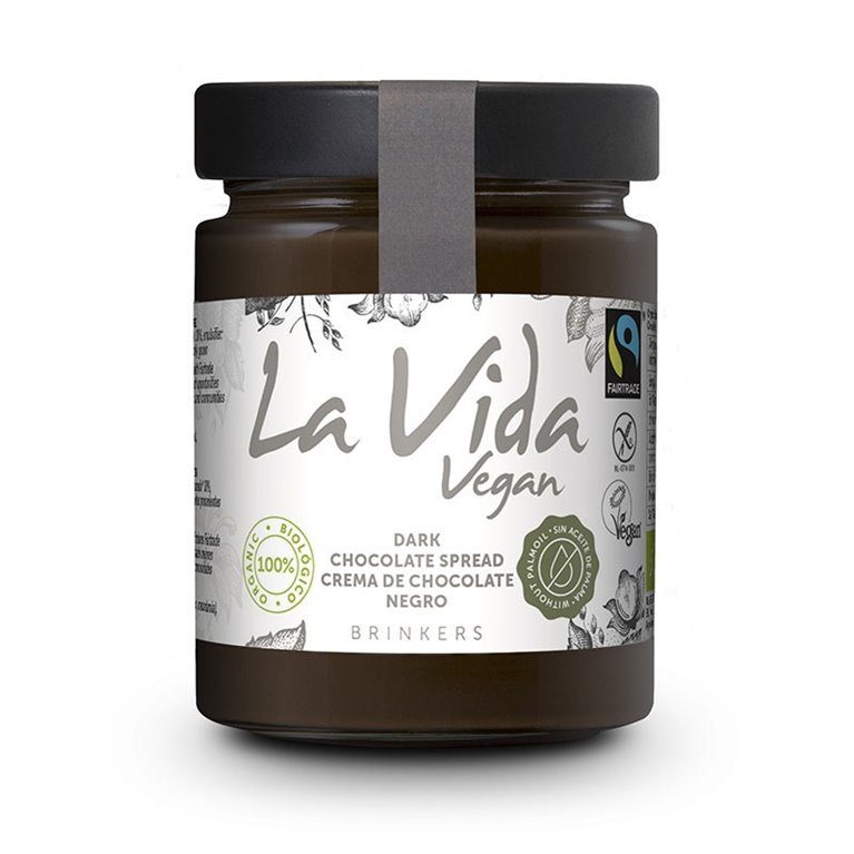 Crema de Chocolate Negro Vegana Bio Fairtrade 270g