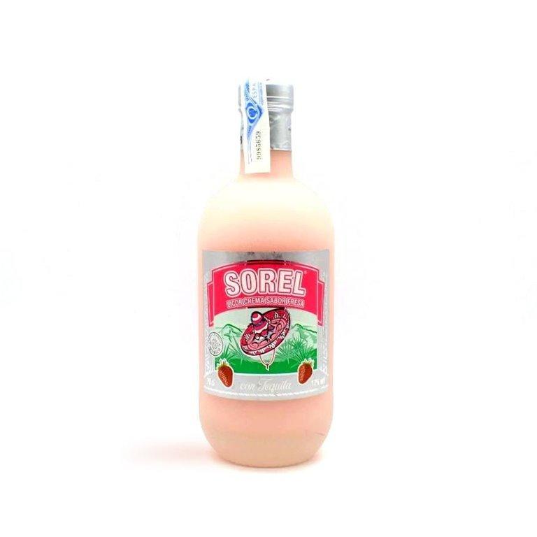 Crema de Fresa con Tequila Sorel 70 cl.