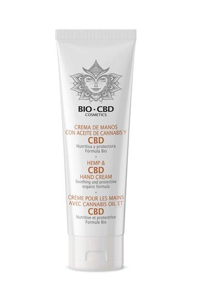 Crema de manos BIO con aceite de cannabis y cbd - 50ml