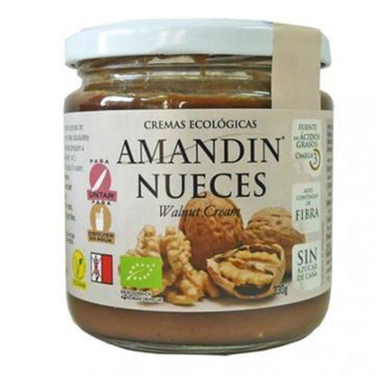 Crema de Nueces con Cáñamo (Sin Azúcar) Bio 330g