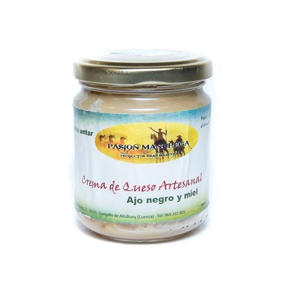 Crema de queso artesano con ajo negro y miel