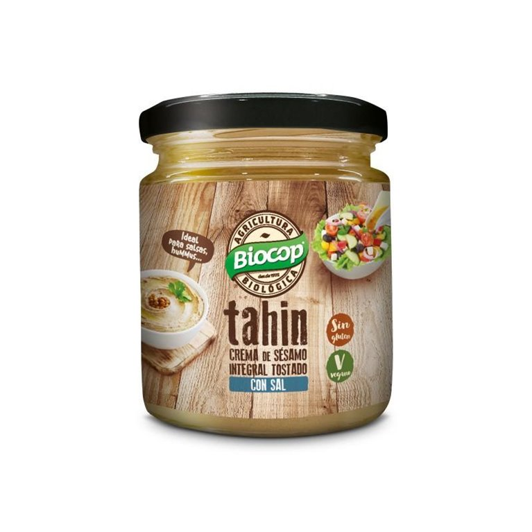 Crema de Sésamo Tahin Tostado Integral con Sal Bio 250g