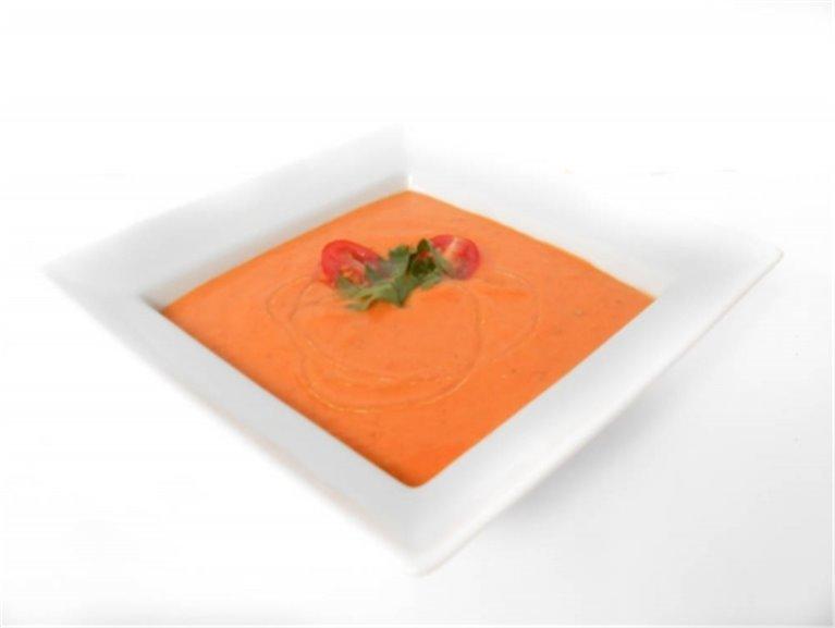 Crema de tomate y zanahoria
