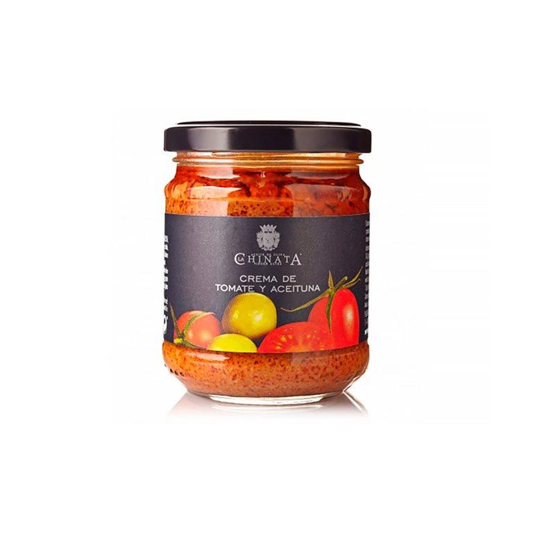 Crema de tomates y aceitunas
