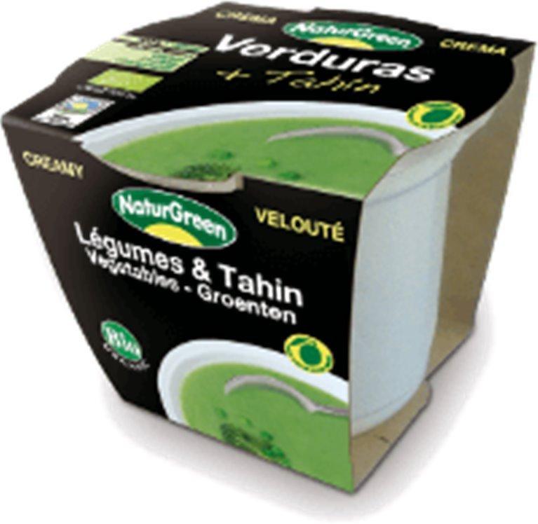 Crema de verduras con tahín, 310 gr
