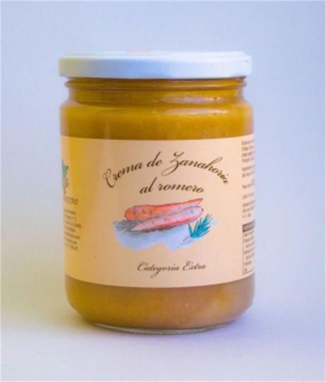 Crema de zanahoria al romero tarro P.N. 400 Grs.