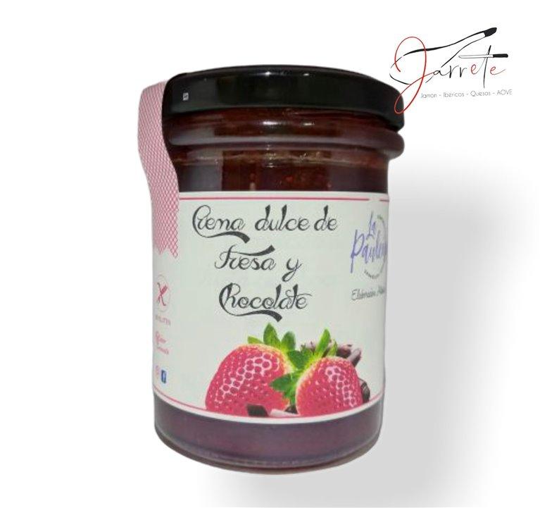 Crema Dulce de Fresa y Chocolate - Tarro, 210 gr