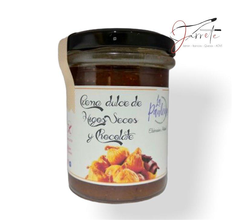 Crema Dulce de Higos Secos y Chocolate - Tarro, 210 gr